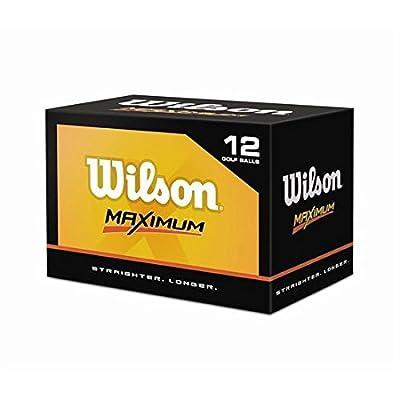 Wilson Maximum Golf Balls - 1 Dozen (Straighter, Longer)