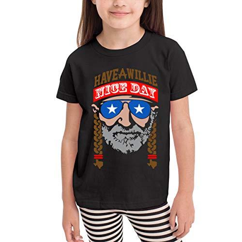 Moniery Have A Willie Nice Day Short-Sleeve T-Shirts Girl's Boy Black (Emerson Shirt Black)