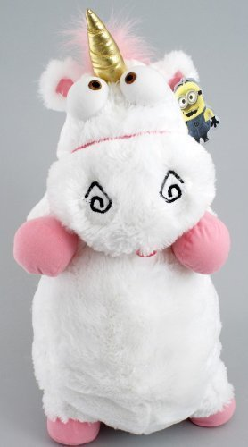 - 2013 Universal Despicable Me 3D Ride Agnes Fluffy Unicorn Pillow Plush Large 22