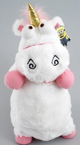 2013 Universal Despicable Me 3D Ride Agnes Fluffy Unicorn Pillow Plush Large 22
