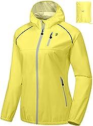 Little Donkey Andy Women's Waterproof Cycling Bike Jacket with Hood, Running Rain Jacket, Windbreaker, Ult