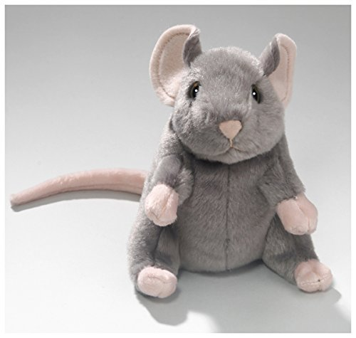Stuffed Animal Mouse grey 6.5 inches, 15cm, Plush Toy, Soft Toy