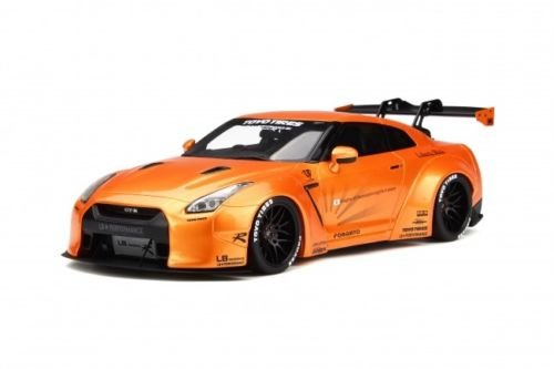 Nissan LB GTR R35 Orange Limited Edition of 999 pieces Worldwide 1/18 Model Car by GT Spirit (Side Gt Model)