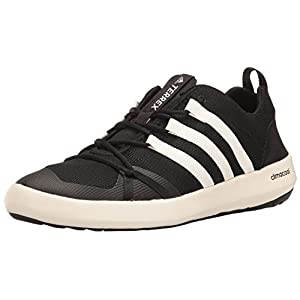 adidas Outdoor Men's Terrex Climacool Boat Water Shoe, Black/Chalk White/Black, 6.5 M US