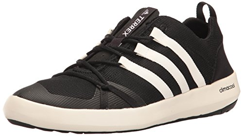 adidas Outdoor Men's Terrex Climacool Boat Water Shoe, Black/Chalk White/Black, 10 M US