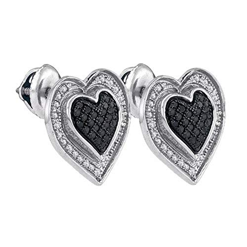 Aienid 925 Wp 0.34Ct Diamond Earrings for Women Micro-Pave Stones ()