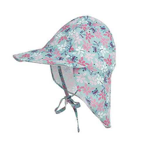 (Baby Sun Protection Hat Kids Outdoor Flap Hat Swim Hat Cover for Head, Neck & Eyes (Frog, M(1T-5T)))