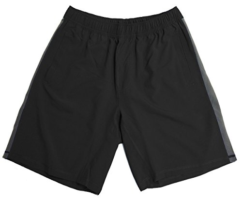 Men Athletic Shorts - Running Shorts By Epic MMA Gear (M, Black)