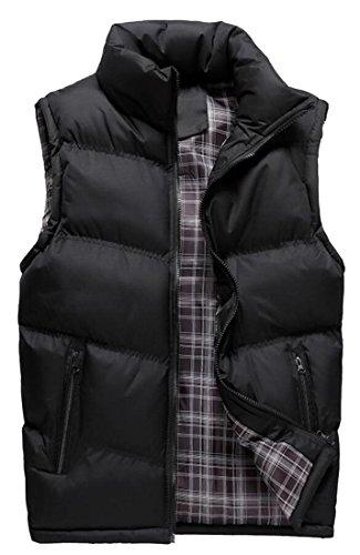 Puffer Vest amp;S Collar Winter M Black Stand Men's amp;W Down Outdoor acYFqwwd8x