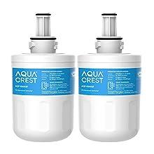 AQUACREST Filtro de agua de refrigerador, compatible con Samsung DA29-00003F, DA29-00003G, HAFIN1 / EXP, DA97-06137A-B (2)