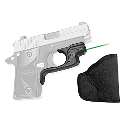 Crimson Trace LG-492G-H Sig Sauer, P238/P938 Laserguard, Polymer, Overmold, Front Activation with Holster, Green from Crimson Trace Corporation