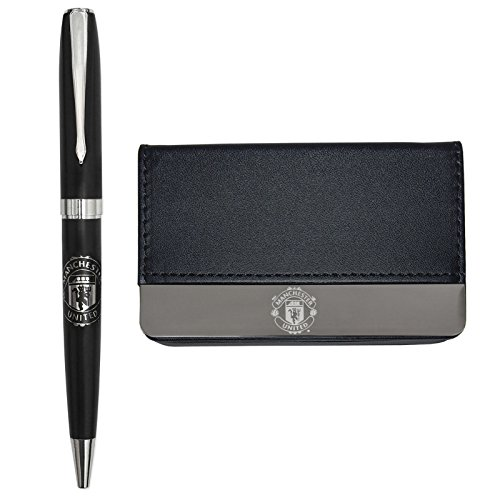 Manchester United FC Official Soccer Gift Boxed Business Card Holder & Pen (United Pen compare prices)