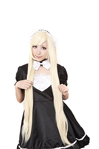Icoser Anime Cosplay Party Wigs for Women Pink Long Straight Hair 100cm (Guy Long Hair Halloween Costumes)