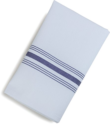Carlisle 53771822NH052 Restaurant Quality Cloth Dinner/Bistro Napkins, 18'' x 22'', Purple Stripe (Pack of 12) by Carlisle