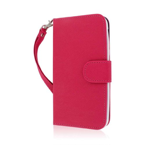 MPERO FLEX FLIP Wallet Case for BLU Studio 5.5 - Pink / Navy (Flex Studio)