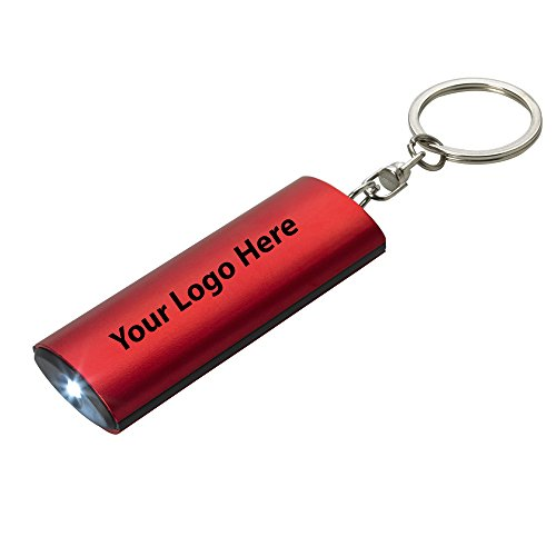 (Aluminum Key Chain Flashlight - 100 Quantity - $1.85 Each - PROMOTIONAL PRODUCT/BULK/BRANDED with YOUR LOGO/CUSTOMIZED)