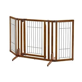 Image of Richell Premium Plus Freestanding Pet Gate with Door Pet Supplies