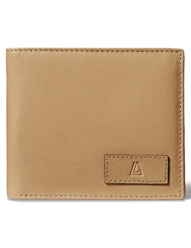 Tan Tri Fold (Leather Architect Men's 100% Leather RFID Blocking Classic Trifold Wallet Tan/Italian Brown)