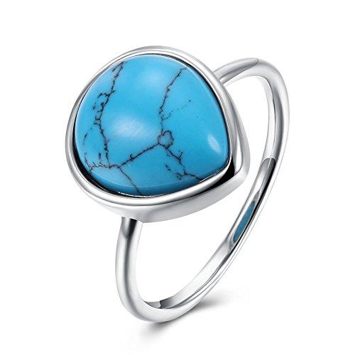 Garilina Turquoise Ring high Fashion Ring Ring Gypsy Ring Inlaid Ring for Women R2074 (7)