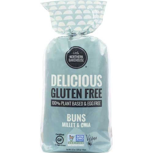 Little Northern Bakehouse Millet and Chia Gluten Free Hamburger Bun, 11 Ounce - 6 per case.