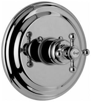 (Graff G-8030-C2S-OB-T Trim-Canterbury Collection Thermostatic Shower Trim Plate & Handle Olive Bronz)