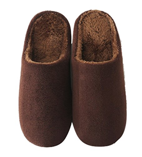 Cattior Heren Koraal Warme Slippers Huis Indoor Spa Slippers Koffie