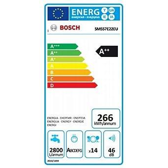 Bosch Lavavajillas Sms57E22Eu ActiveWater Clase A + + capacidad a ...