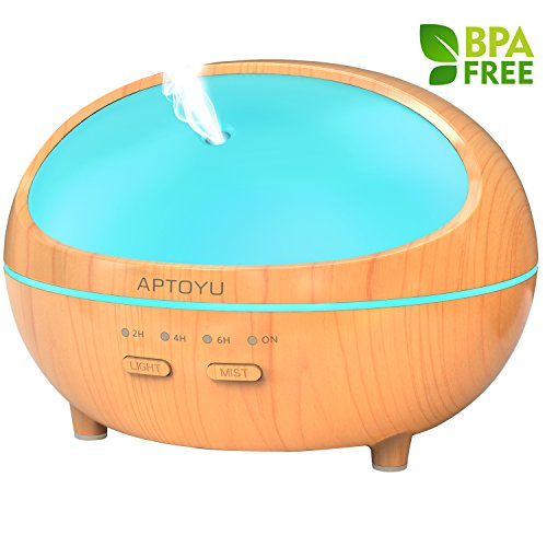 Essential Oil Diffuser, 300ml Wood Grain Ultras...