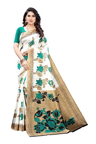 Phillord Women's Art Silk Saree with Unstitched Blouse Piece