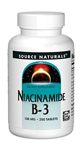 Source Naturals Niacinamide B-3, 100 mg Dietary Supplement - 250 Tablets (Best Vitamins For Osteoarthritis)