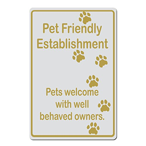 Pet Friendly Establishment, Pets Welcome With With Well Behaved OwnersCat Pawprint Version - 15