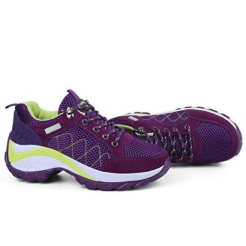 Greifen mit LIANGXIE Wellen leichten Schuhe zufällige Schuhen Beleg Lila Ineinander erhöhen Schuhe Die Damen der Breathable Turnschuhe Laufenden Schuh Frauen Nicht SSfw7Tq