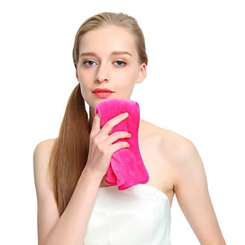 Desmaquillantes Paño, Toalla Limpiadora de Tela Paquete de 3 Paños de Limpieza de Microfibra Premium Toalla de Limpieza Facial Reutilizable Quitar ...