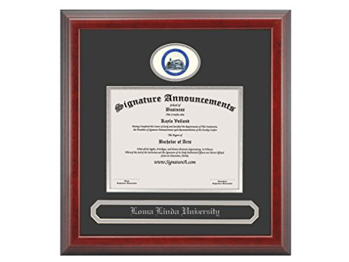 Signature Announcements Ohio-Christian-University Undergraduate, Graduate/Professional/Doctor Sculpted Foil Seal & Name Diploma Frame, 16'' x 16'', Cherry by Signature Announcements