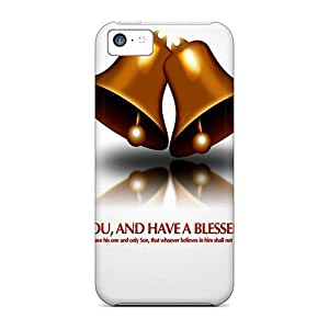 XiFu*MeiSpecial Design Back Christmas Blessings Phone Cases Covers For Iphone 5cXiFu*Mei