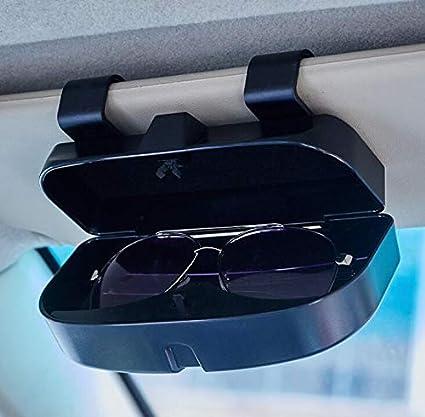 Universal Sonnenbrillenhalter Brillenetui Brillen Halter Auto f/ür Karte Ausweis M/ünze mit Kartensteckpl/ätze Auto Brillenhalter Brillenhalterung Brillenbox Brillenhalter