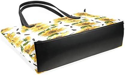XGBags Custom Tournesol jaune en cuir PU sac à bandoulière sac à main pour femmes filles