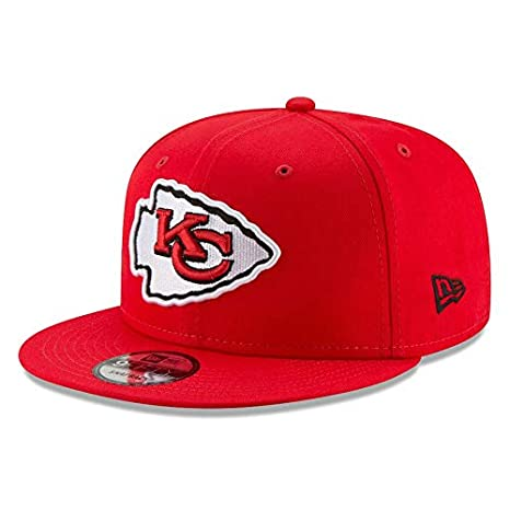 834e5baad05 Image Unavailable. Image not available for. Color  New Era Kansas City  Chiefs Hat NFL Red 9FIFTY ...