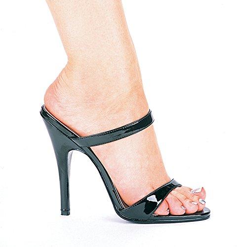 Image of Women's 5 inch Heel Slip On Sandal (Black;8)