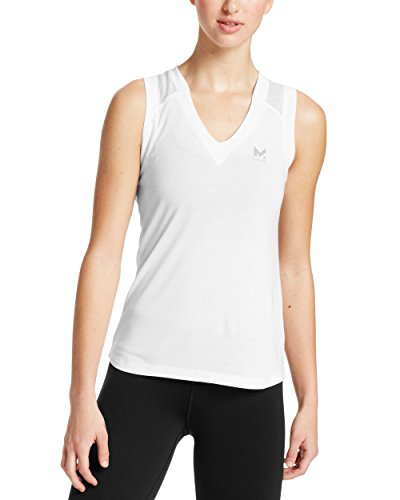 Bright Sleeveless Tee Tops - Mission Women's VaporActive Conductor Tank Top, Bright White, Medium