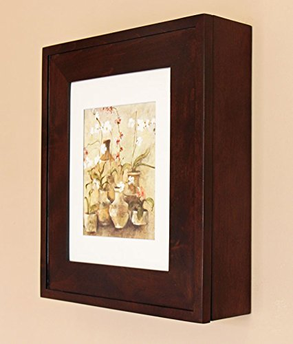 Coffee Bean Picture Perfect Medicine Cabinet, a wall-mount picture frame medicine cabinet without mirror - available in White, Black, Espresso, and more!