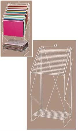 Floor Standing Wire Tissue Paper Rack - White,tissue Floor Display with Wire Shelf Color: White,keep Your Tissue Papers Organized & Accessible, Find the Color You Need Fast, and Prevent Torn, Wrinkled Tissue with These Tissue Floor Displays with a Wire Sh by Sprinkles Gifts