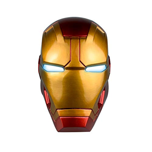 Funny Uncommon Halloween Costumes (XXF Iron Man Electronic Helmet - PVC Iron Man Full Head Mask with Eyes LED Glowing Halloween Cosplay for)