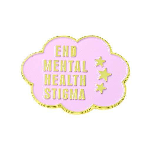 Ms.Clover End Mental Health Stigma Funny Enamel Pin, Feminist Depression Anxiety Lapel Pin