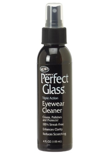 Hope's Perfect Glass Eyewear Cleaner, 4-Ounce, Case of 24, Enhances Clarity, Scratch Resistant, Streak-Free, Works on Prescription Eyewear and - Sunglasses Scratches