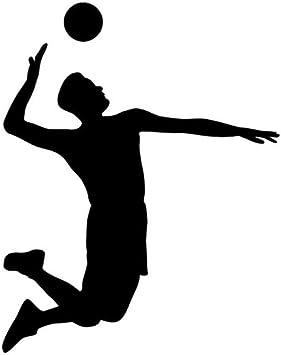 Sticker de carro 12.5 CM * 15.8 CM Interesante Balón de Voleibol ...