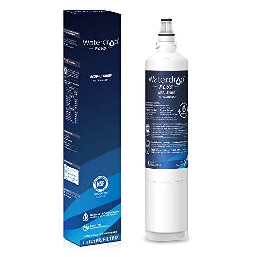 Waterdrop 5231JA2006A Refrigerator Water Filter, NSF 401&53&42, Compatible with LG LT600P, 5231JA2006A, 5231JA2006B, Kenmore 9990, 5231JA2006E, 5231JA2006F, 469990, 46-9990, Reduces Lead, Chlorine