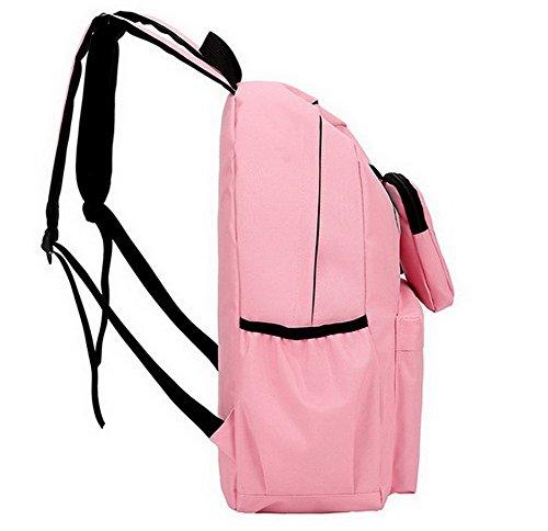 VogueZone009 des Décontractée École à Sacs Femme Bandoulière Zippers Rose Dacron Sacs 5rwtX5qA