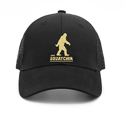 Cap State Pittsburg (Gone Squatchin Big Foot Hunter Snapbacks Truker Hats caps Unisex Adjustable Fashion)