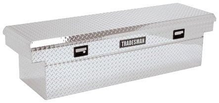 Lund/Tradesman 9202DBT 60-Inch Aluminum Mid-Size Cross Bed Truck Tool Box with Full Lid and Deep Well, Diamond Plated, Silver (Mid Size Truck Box compare prices)